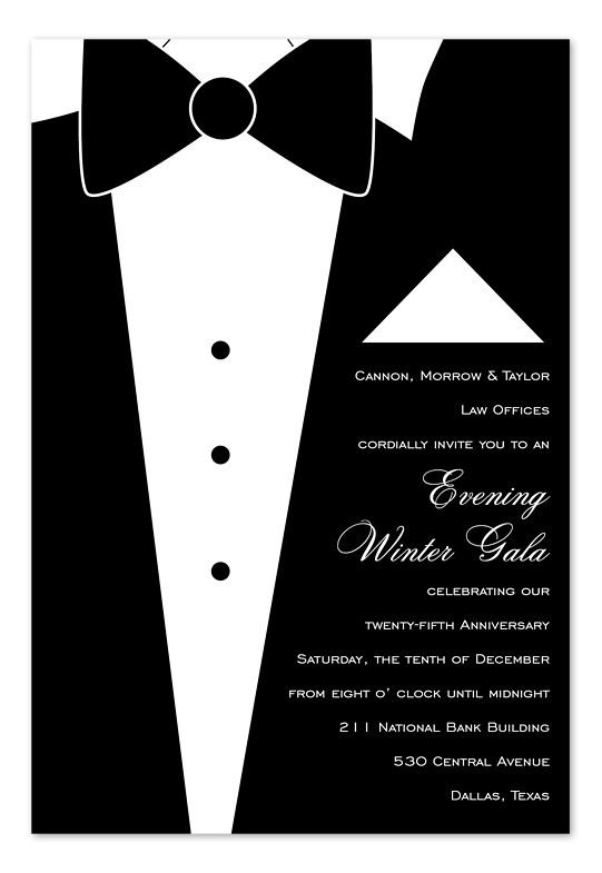 Terrific Tuxedou0027 by Invitation Consultants Black and white - free corporate invitation templates