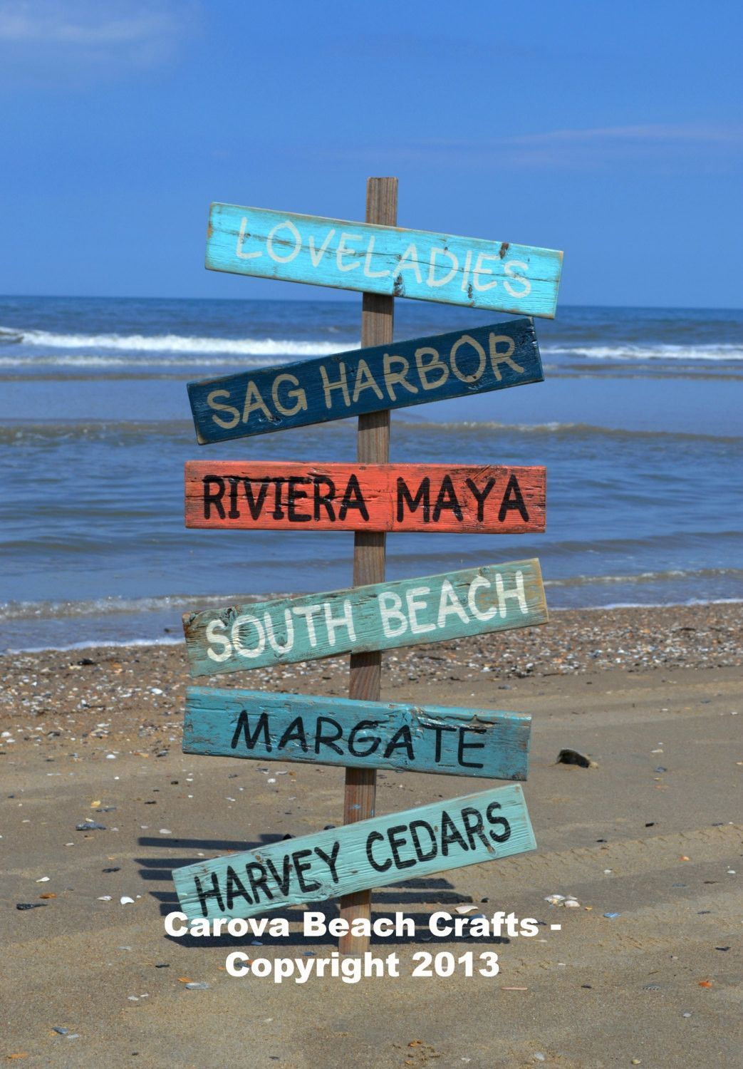 Outdoor Yard Customized Personalized Beach Coastal Nautical Hand