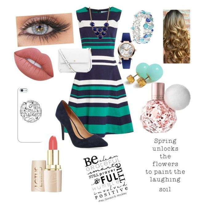 """""""Church outfit """" by pitcher04 ❤ liked on Polyvore featuring Dickins & Jones, Maiden Lane, Tory Burch, Vivienne Westwood, Avenue, Kenneth Cole, Lime Crime and Casetify"""