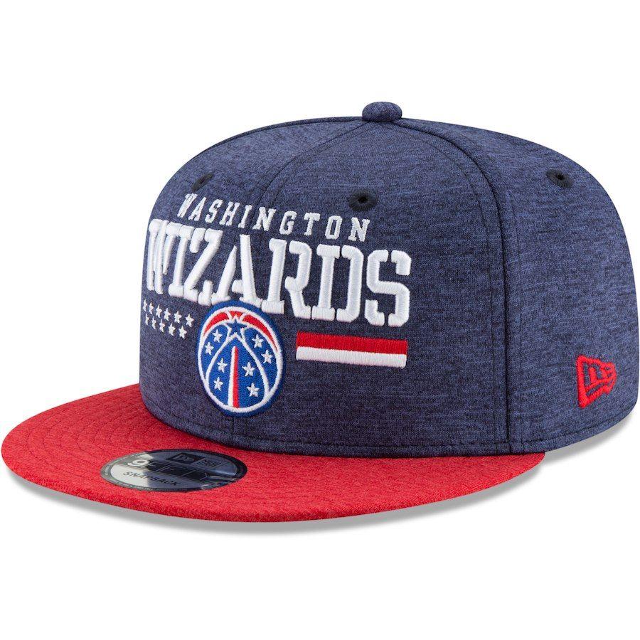 032e34551 Men's Washington Wizards New Era Heathered Navy/Red NBA Hoops For ...