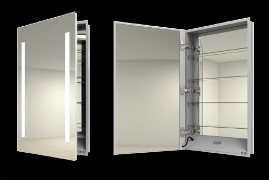 Recessed Medicine Cabinet With Lights And Outlet | Bar Cabinet
