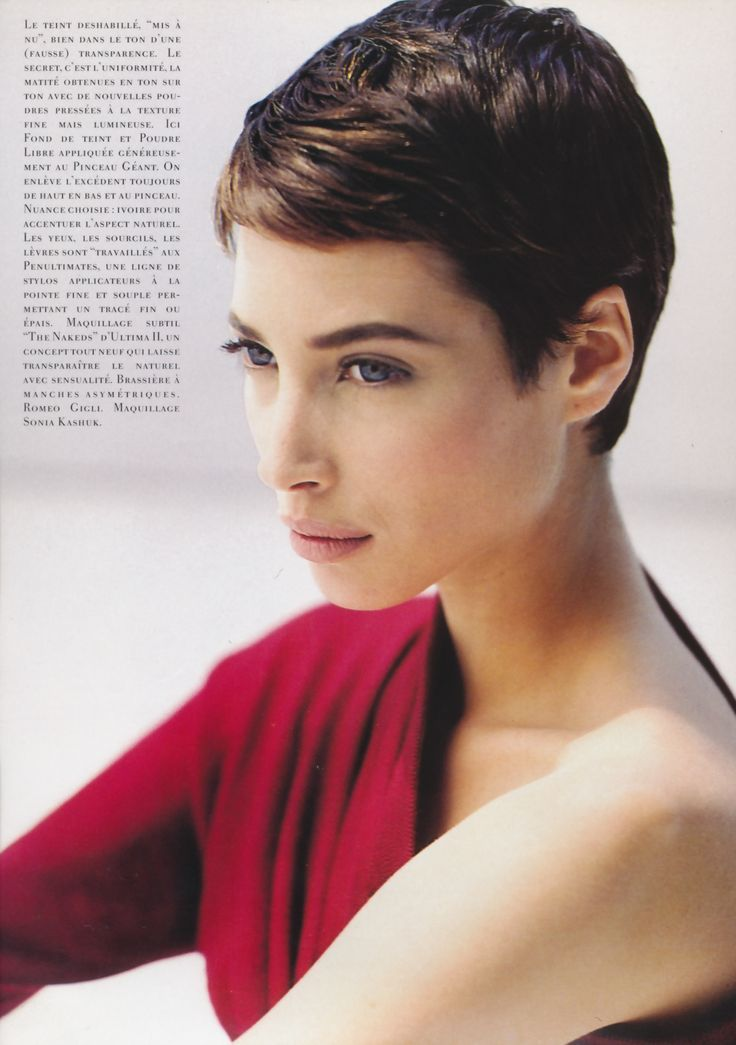 Christy Turlington As Jean Seberg In October 1990 Issue Of Vogue