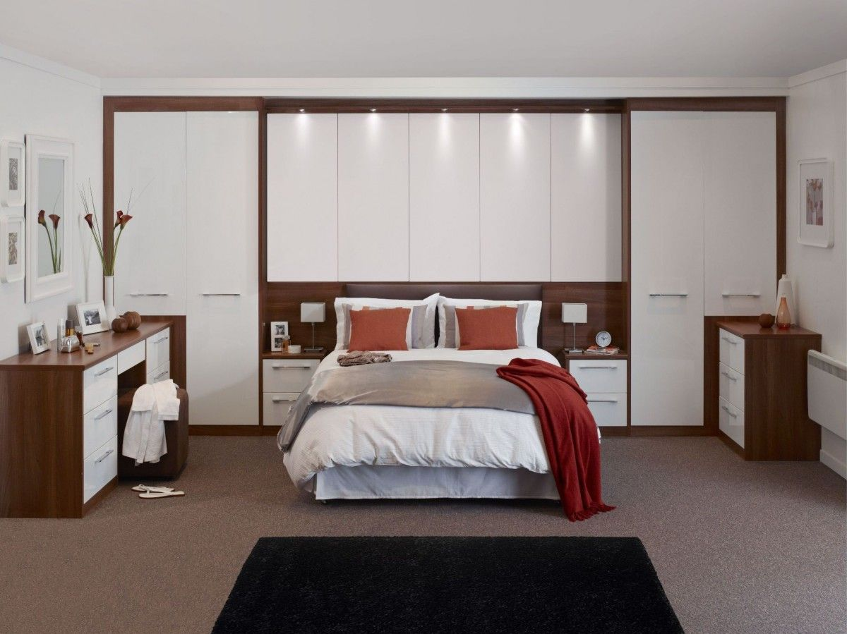 Built In Wardrobe Designs For Bedroom Captivating Small Bedroom Design Ideas With A Wardrobe Behind The Bed Decorating Design