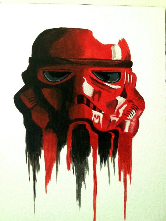 01c51e4002e Star Wars Stormtrooper Inspired Drip Style Canvas by ABXYCustoms ...