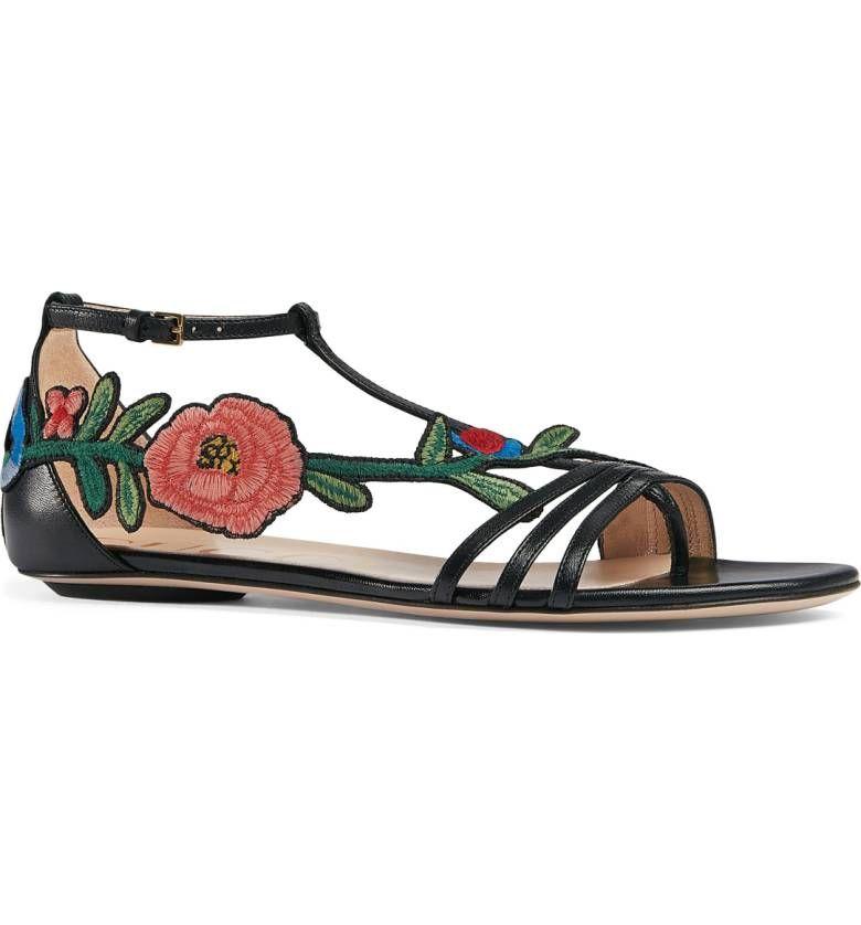 Gucci Ophelia Flower Sandal (Women