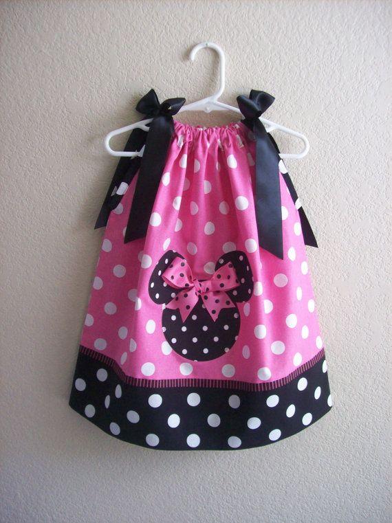minnie mouse pillow case dress | Applique | Pinterest | Nähe ...