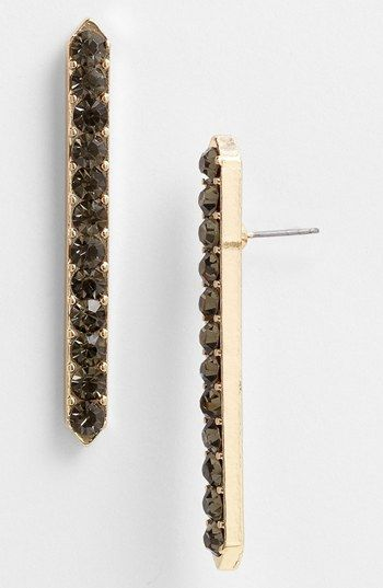 Robert Rose Crystal Bar Drop Earrings available at #Nordstrom