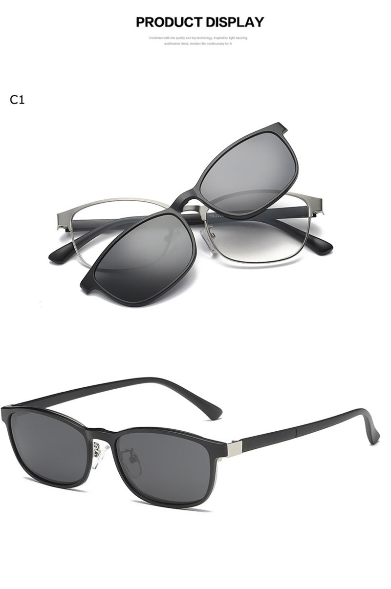 db0b33d291 Clip On Sunglasses Magnetic Spectacle Frame Eyeglasses With Polarized  Glasses Driving Optical  ClipOn  Magnet  Eyewear  Polarized  Driving  Lens   Eyeglasses ...