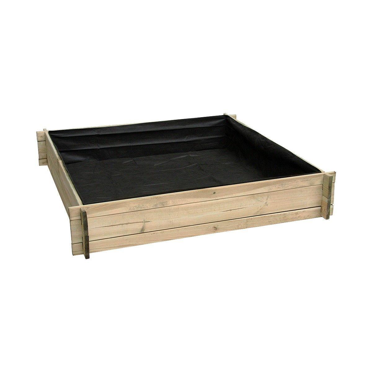 Potager Mobile En Bois carré potager divisé en bois grand modèle - taille : taille