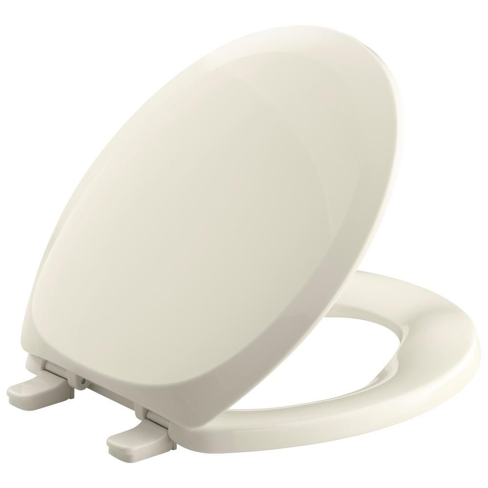 Kohler French Curve Round Closed Front Toilet Seat In Almond