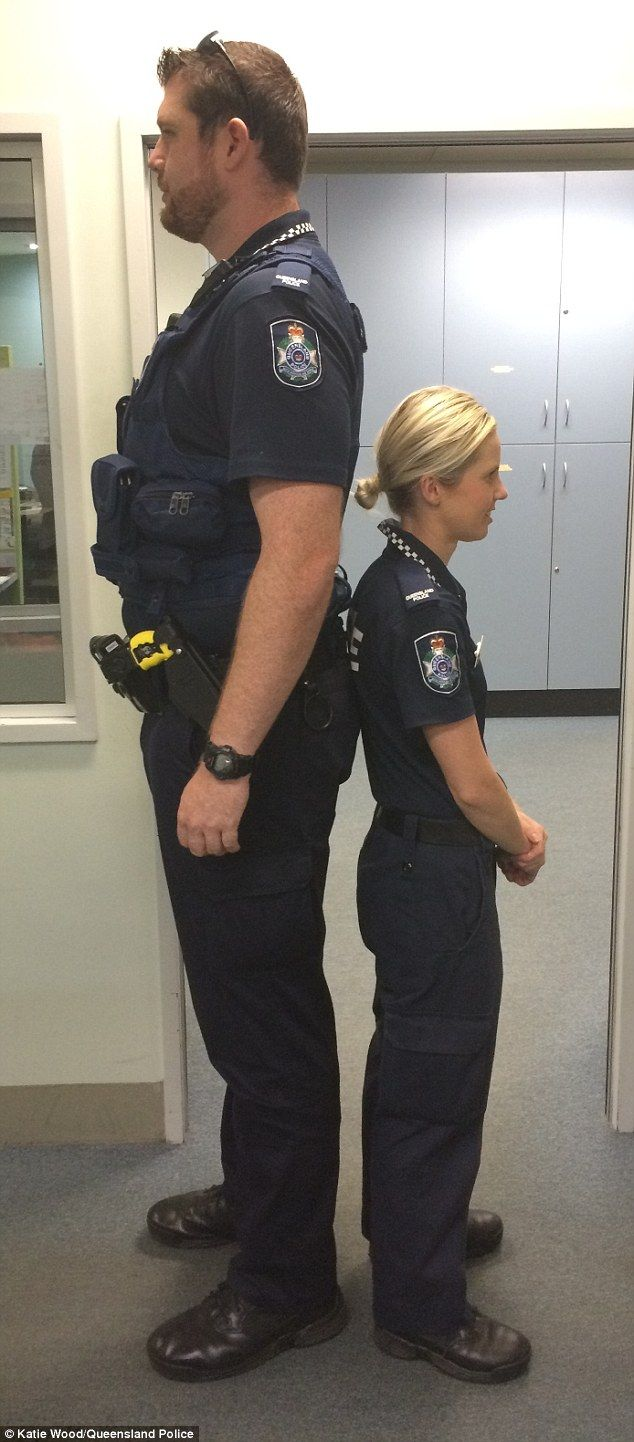 Queensland police officers prove height is no barrier for ...