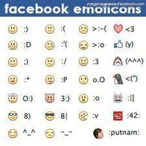 New Facebook Emotions – Emoticons for Facebook – Novos Smileys para Facebook 2013