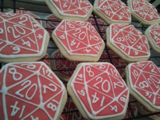 I need to do these for the DnD group  D20 cookies! | I <3 Geeks in