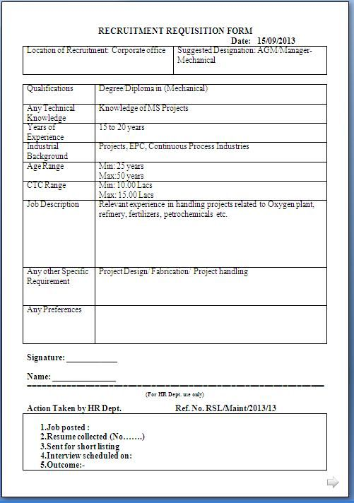 RecruitmentRequisitionFormSampleTemplateJPG 501 712 – Recruitment Request Form
