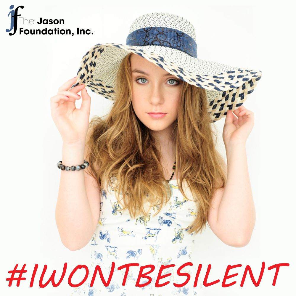 "JFI is proud to announce Bailey James as our first National Youth Advocate. Bailey brings her passion and outreach to help fight the ""Silent Epidemic"" of youth suicide. She joins Rascal Flatts & Charlie Daniels as music entertainers that promote youth suicide prevention and awareness alongside The Jason Foundation."