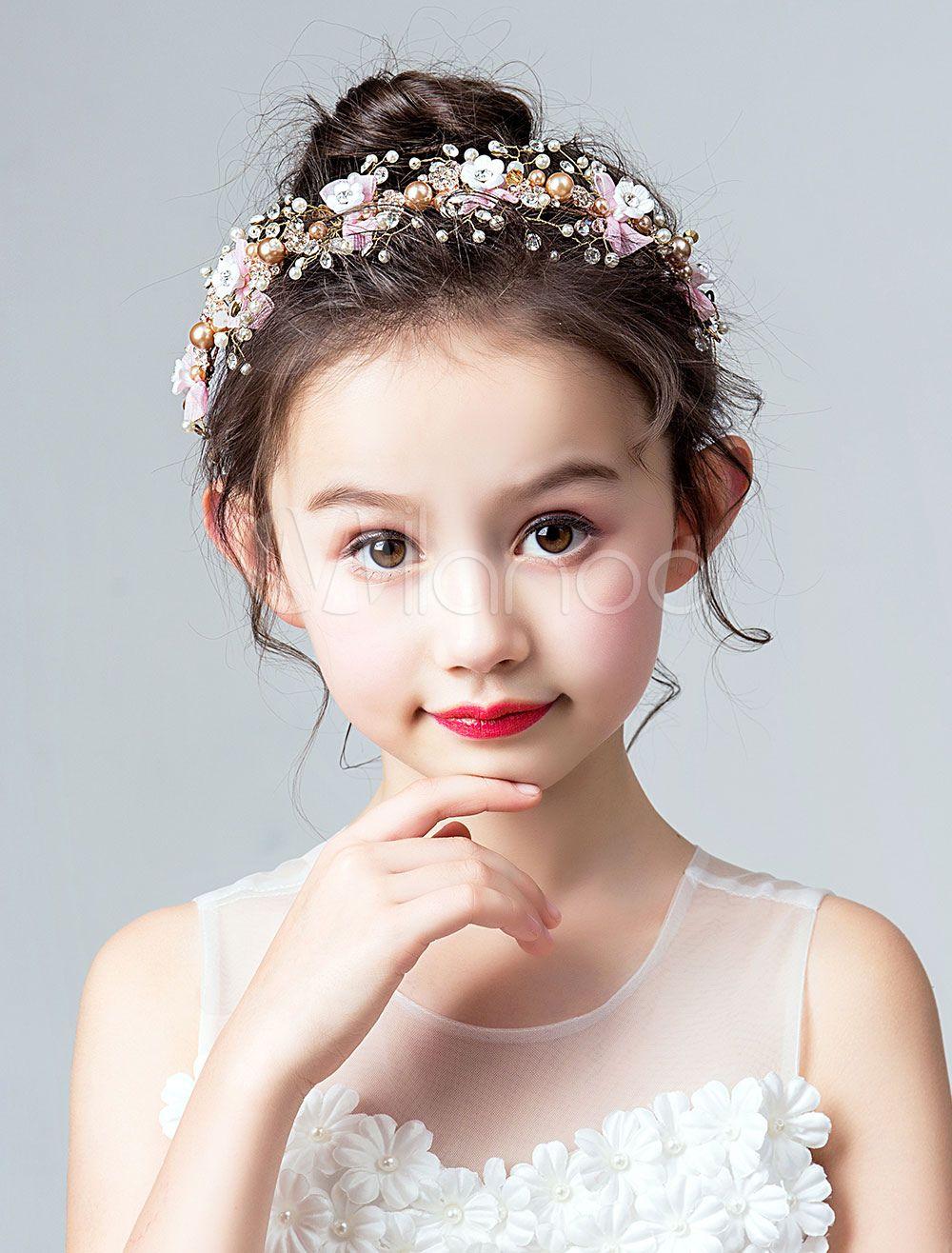 First Communion flower girl lace headband pearl headband bling headband pearl headdress Vintage bridal headband hair accessory