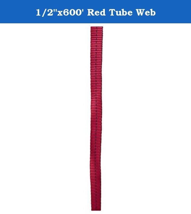 """1/2""""x600' Red Tube Web. Advanced Base Camp tubular webbing is constructed to be the strongest available. We work closely with our manufacturing mill to insure quality, durability, and the highest strength rating possible. / 1/2"""" strength: 1,000 lbs., 4.4kN / 11/16"""" strength: 2,500 lbs., 11 kN / 1"""" strength: 4,000 lbs., 17.8 kN / 2"""" strength: 7,000 lbs., 31 kN / WARNING: """"Spools may contain one or more splices""""."""