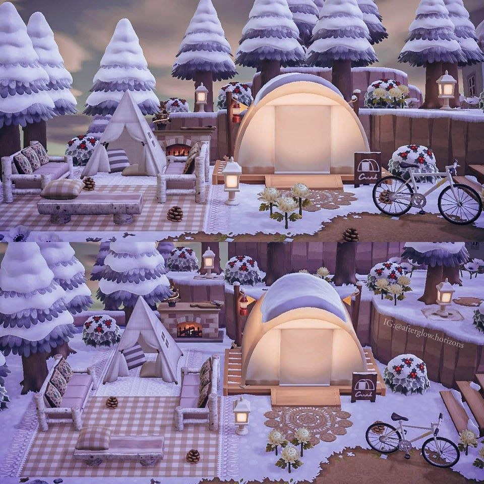 Reddit AnimalCrossing My relaxing campsite 🏕