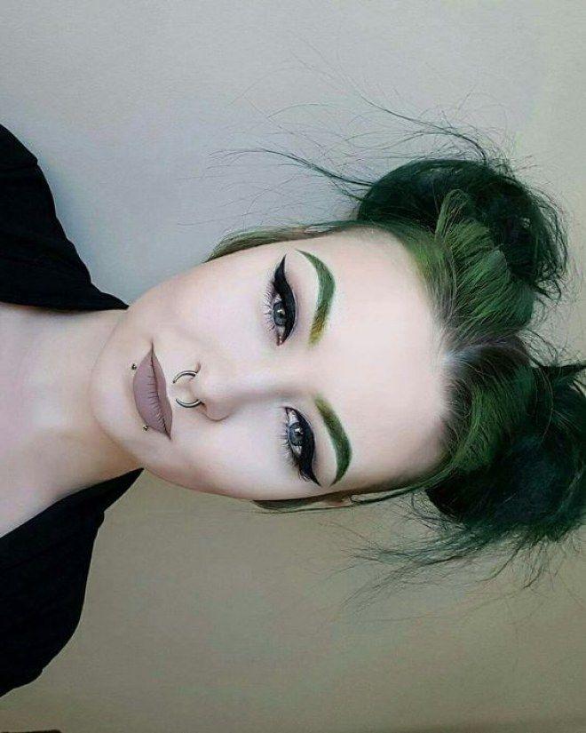 Maquillaje a juego con el color de pelo #makeup #maquillaje #color