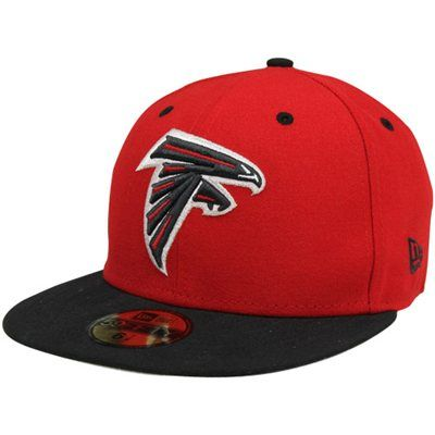( 3) -  35 New Era Atlanta Falcons Two-Tone 59FIFTY Fitted Hat - Red Black  - 7 1 2 ea48df731