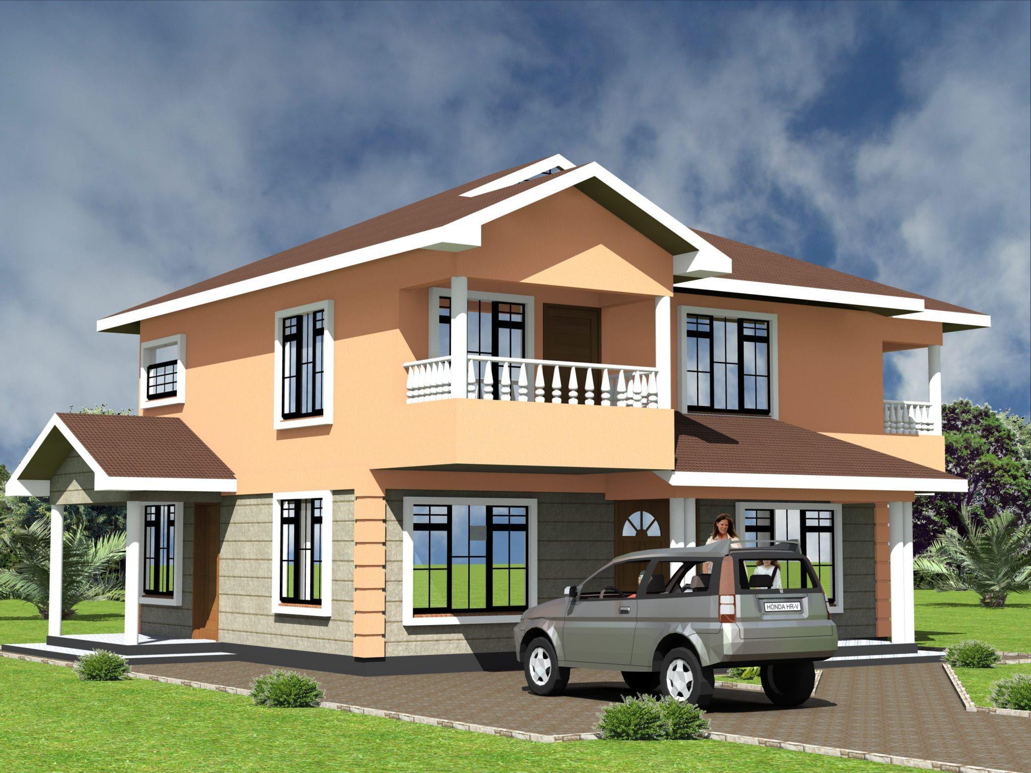 Modern 4 Bedroom Maisonette House Plan Hpd Consult In 2020 4 Bedroom House Designs House Plans Maisonette