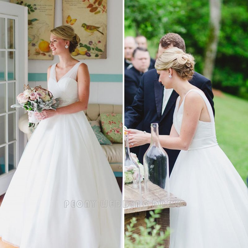Find a Elegant Pleat Tulle Wedding Dresses Beaded Crystals Ball Gown ...