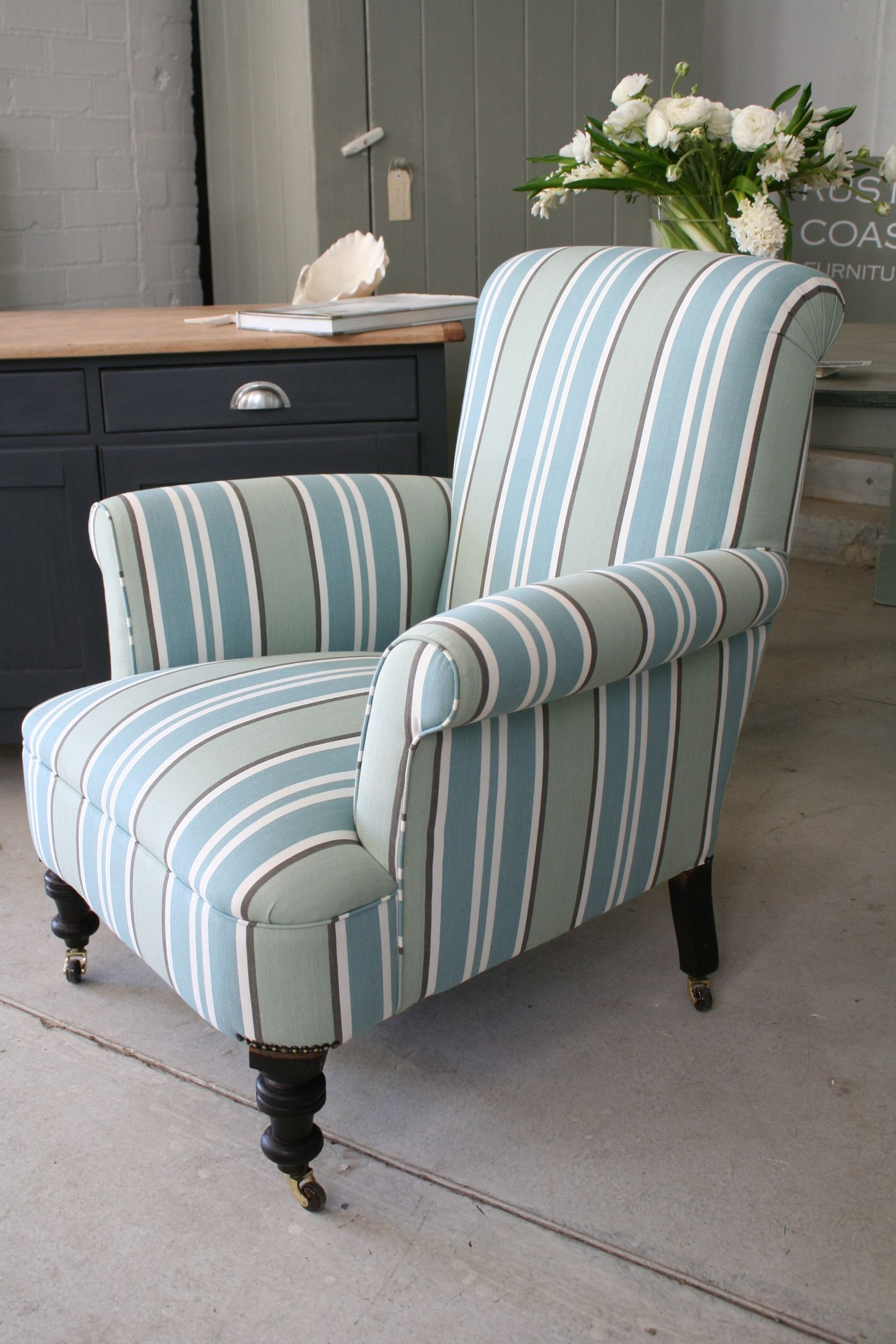 This large, comfortable Edwardian armchair has been