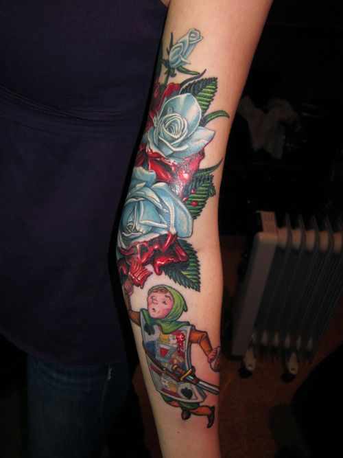 f6488adb95fbd painting the roses red. | Tattoos | Red tattoos, Disney tattoos, Tattoos
