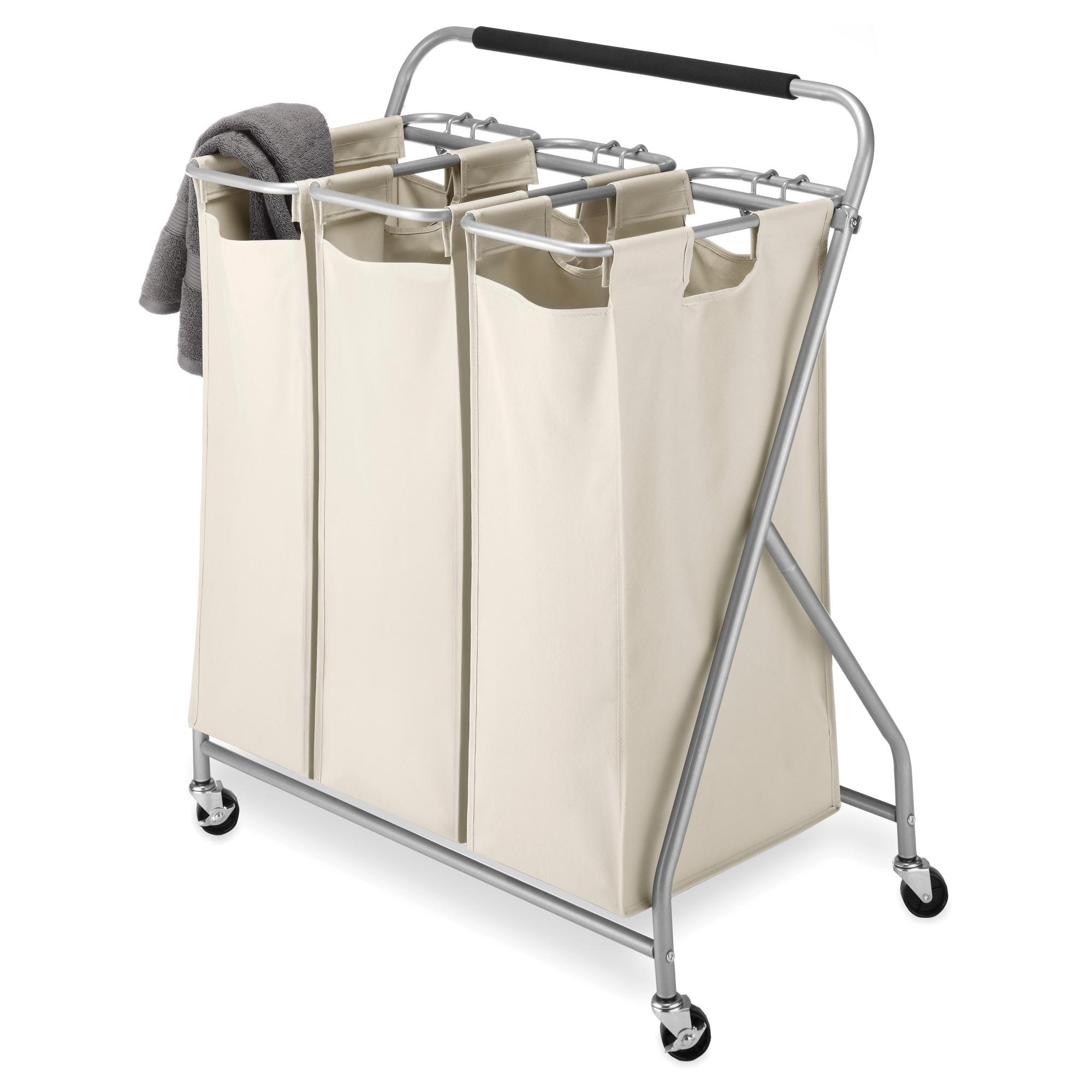 Whitmor Easy Lift 3 Bag Triple Laundry Sorter Laundry Sorter