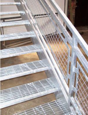 Beau Galvanized Boca Stairway, Galvanized Stairs