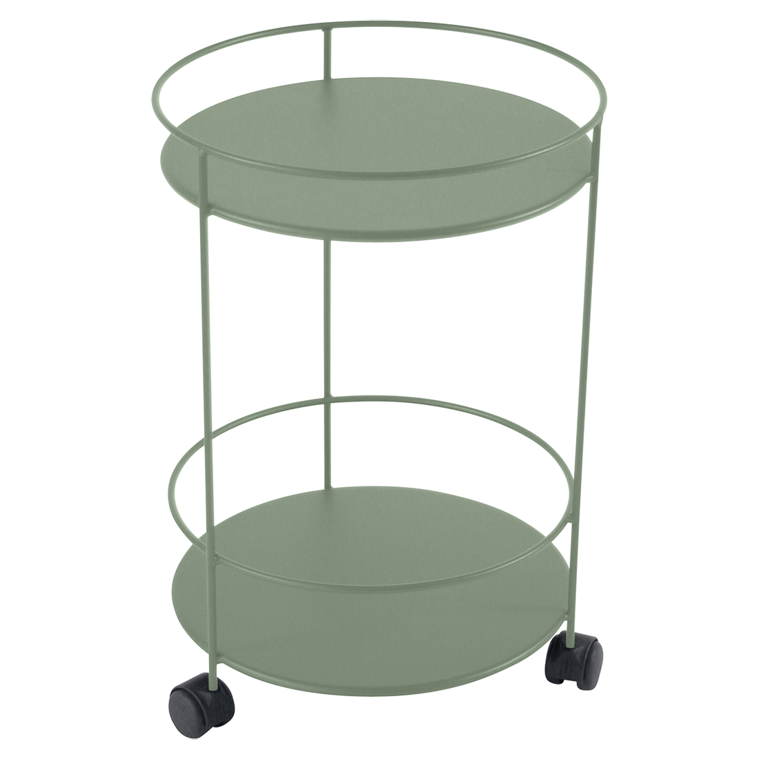 Fermob Gueridon Small table double top perforated outdoor – Small Table with Wheels