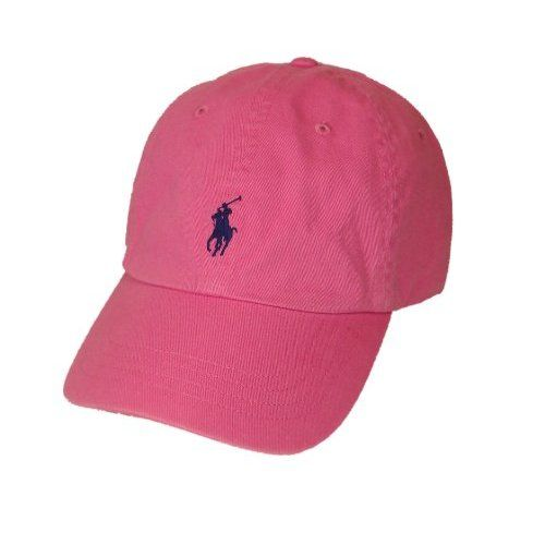 35c34e342 Polo Ralph Lauren Pony Logo Hat Cap Pink with Navy pony | pink, pink ...