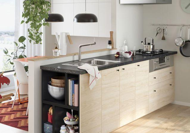 Cuisine Ikea Les Plus Beaux Modeles Du Geant Suedois Elle Decoration Cuisine Ikea Meuble Bar Cuisine Ikea