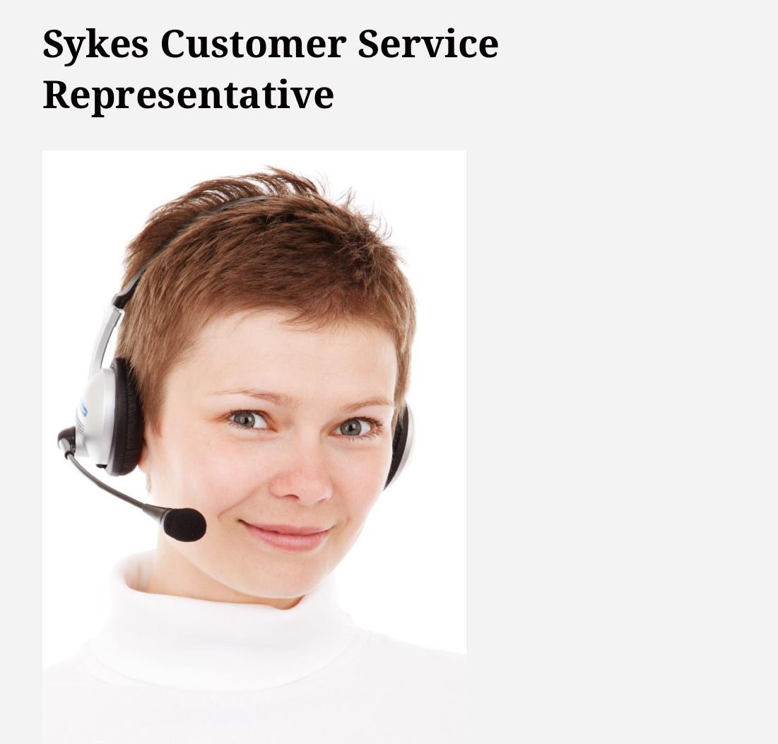 Sykes is looking for customer service representatives to