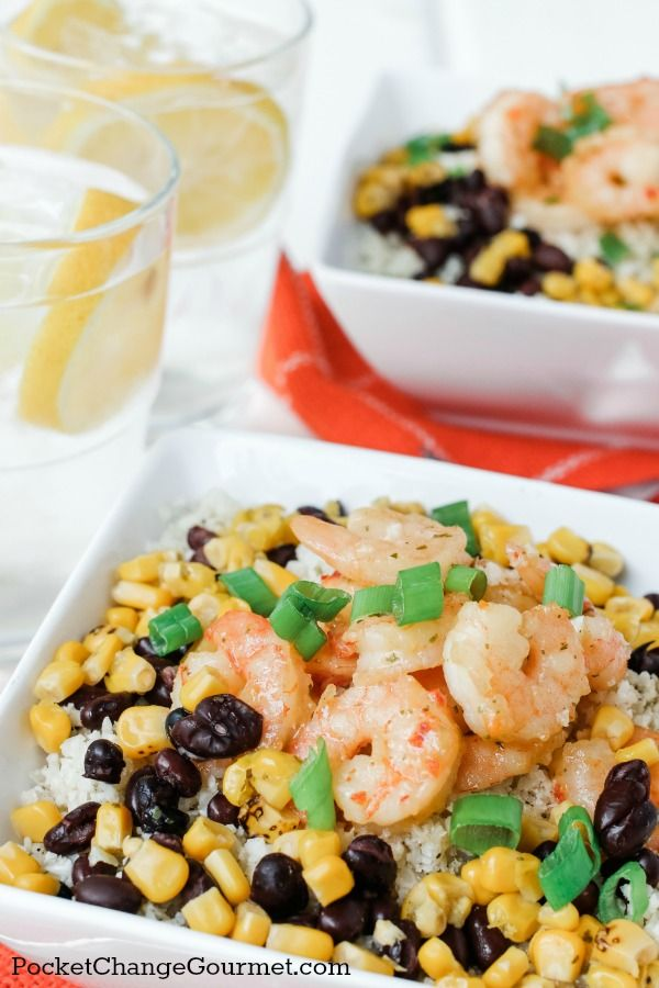 CAULIFLOWER RICE BOWL - A quick and easy meal with SeaPak shrimp!