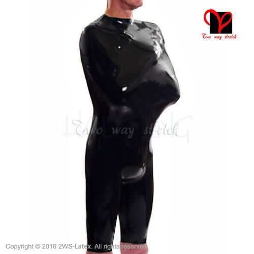Black Sexy Latex Straitjacket Rubber Strait jacket bodybag Catsuit ...