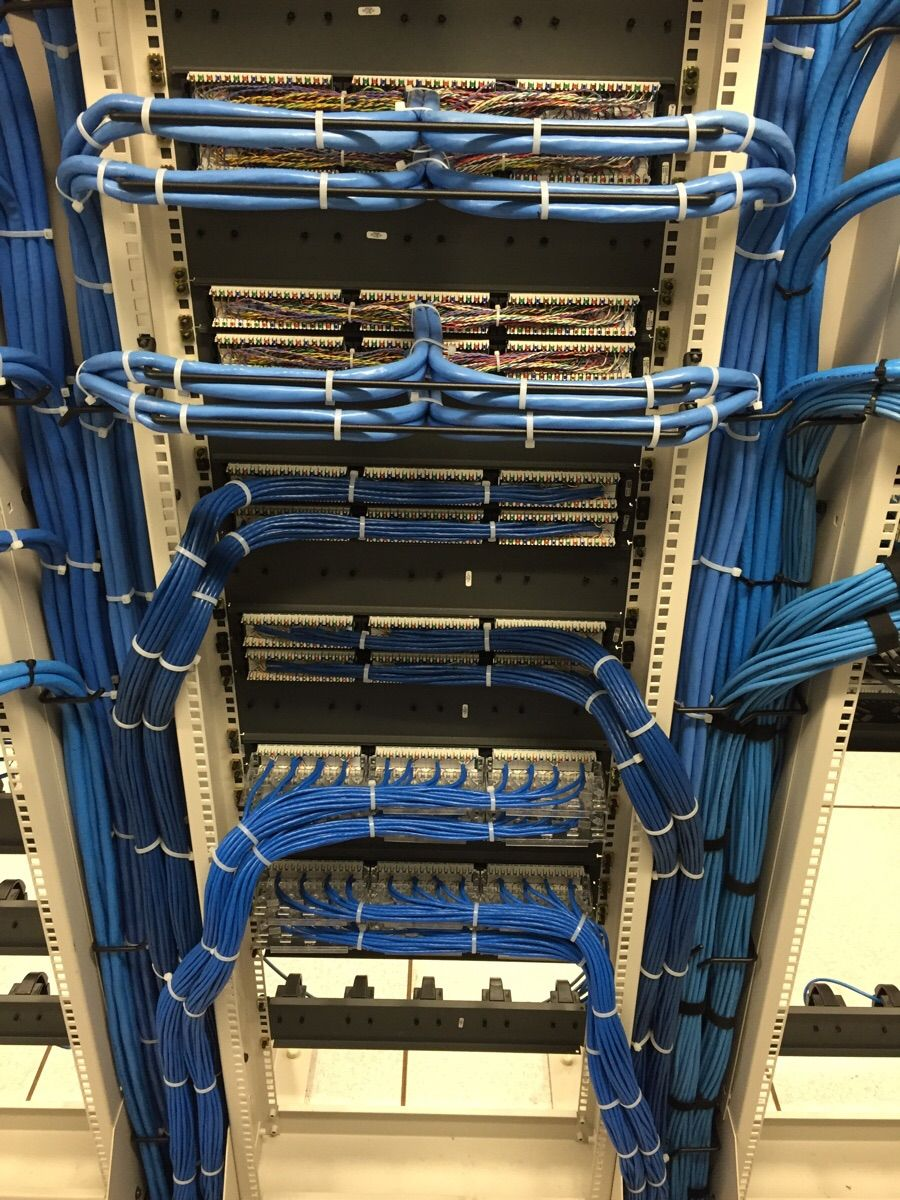Not Too Bad At All Cable Management 1000 Images About Structured Wiring On Pinterest Media Cabinet Blue Cabling Good Job Server Room Electrical
