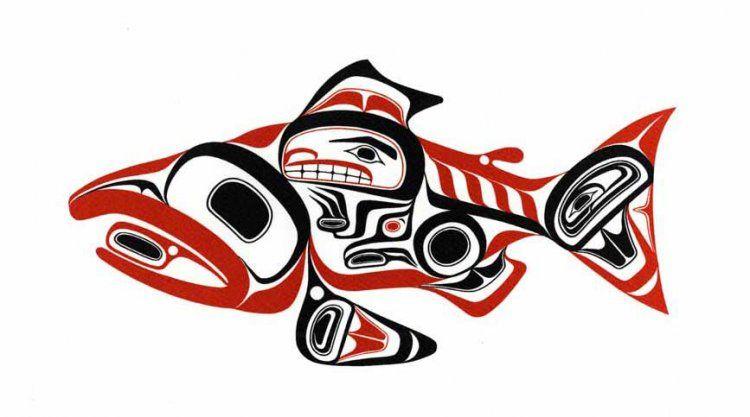 Haida Salmon Skaagi By Bill Reid Around In 2019 Inuit Art