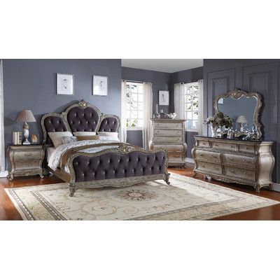 Meridian Furniture USA Roma Upholstered Panel Bed