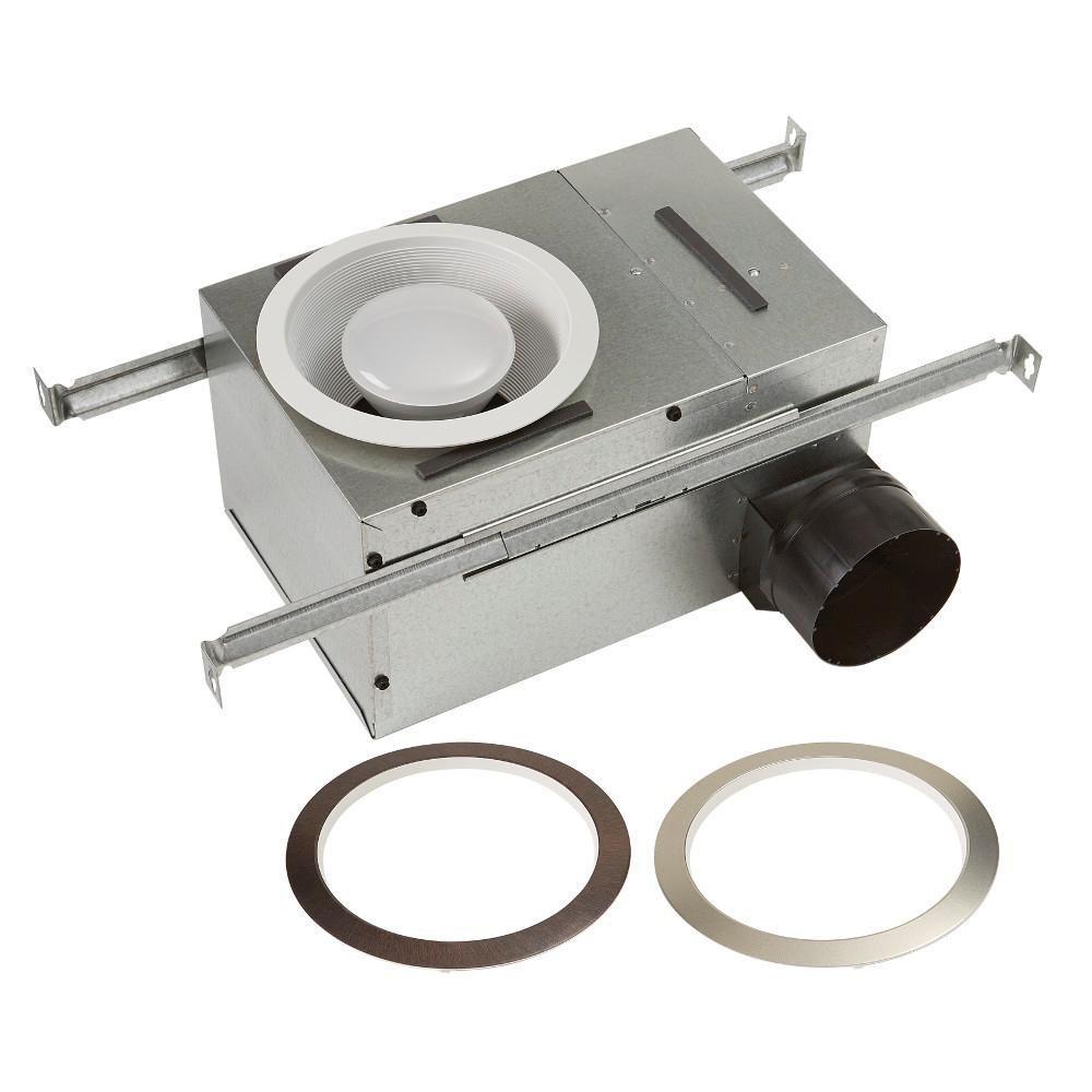 Broan Nutone White Adjustable 50 80 Cfm Ceiling Bathroom Exhaust
