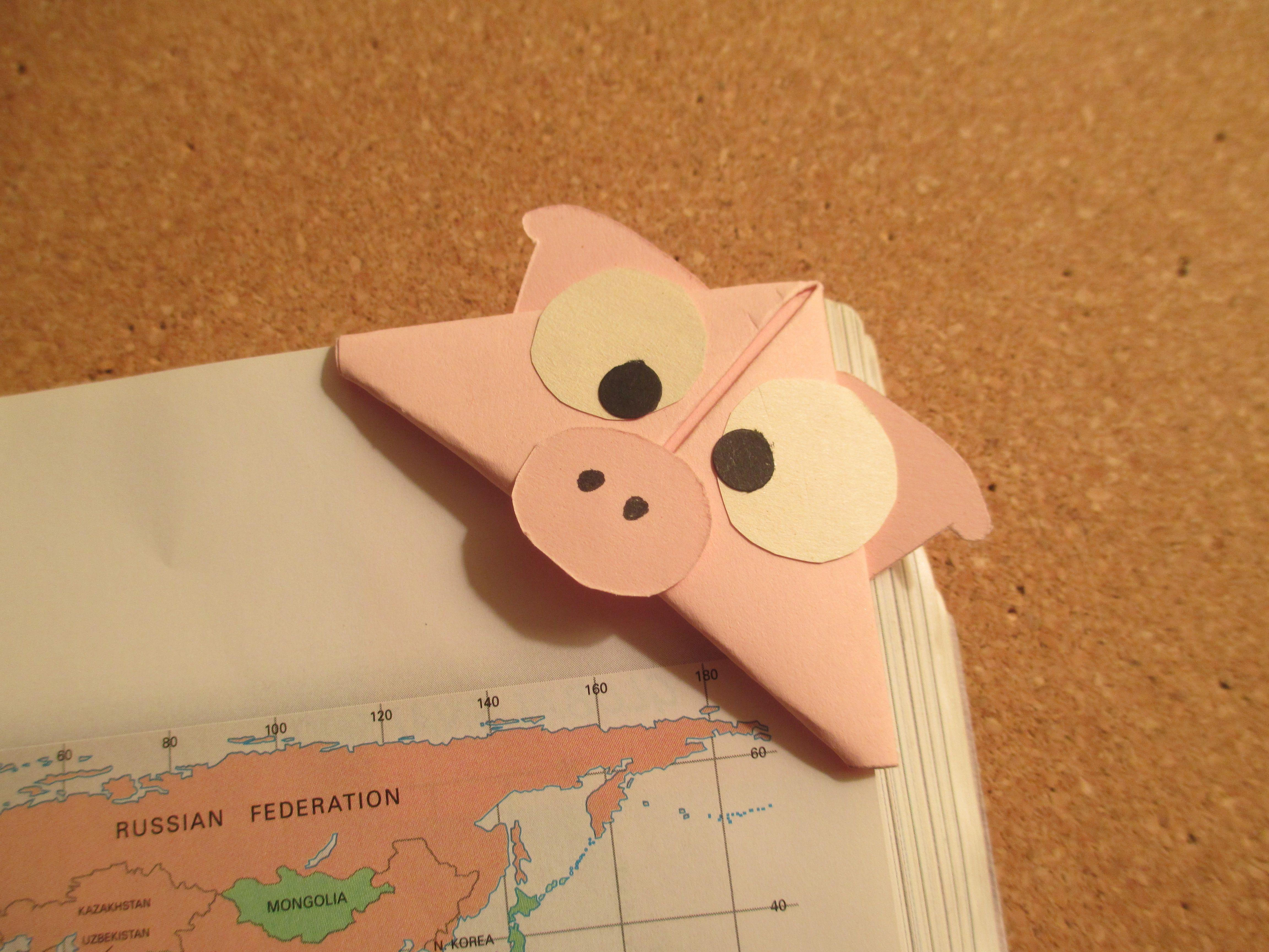 pig bookmark   Handmade Origami Bookmarks   Pinterest ... - photo#31
