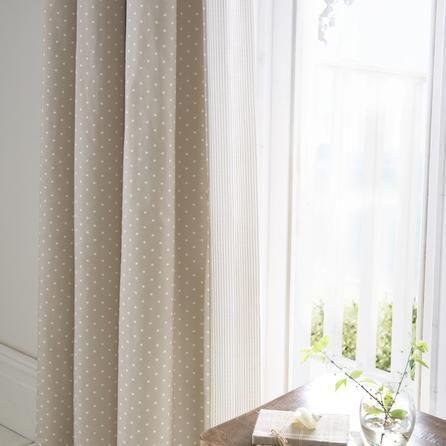 Dorma Mink Capri Collection Curtains Dunelm Natural