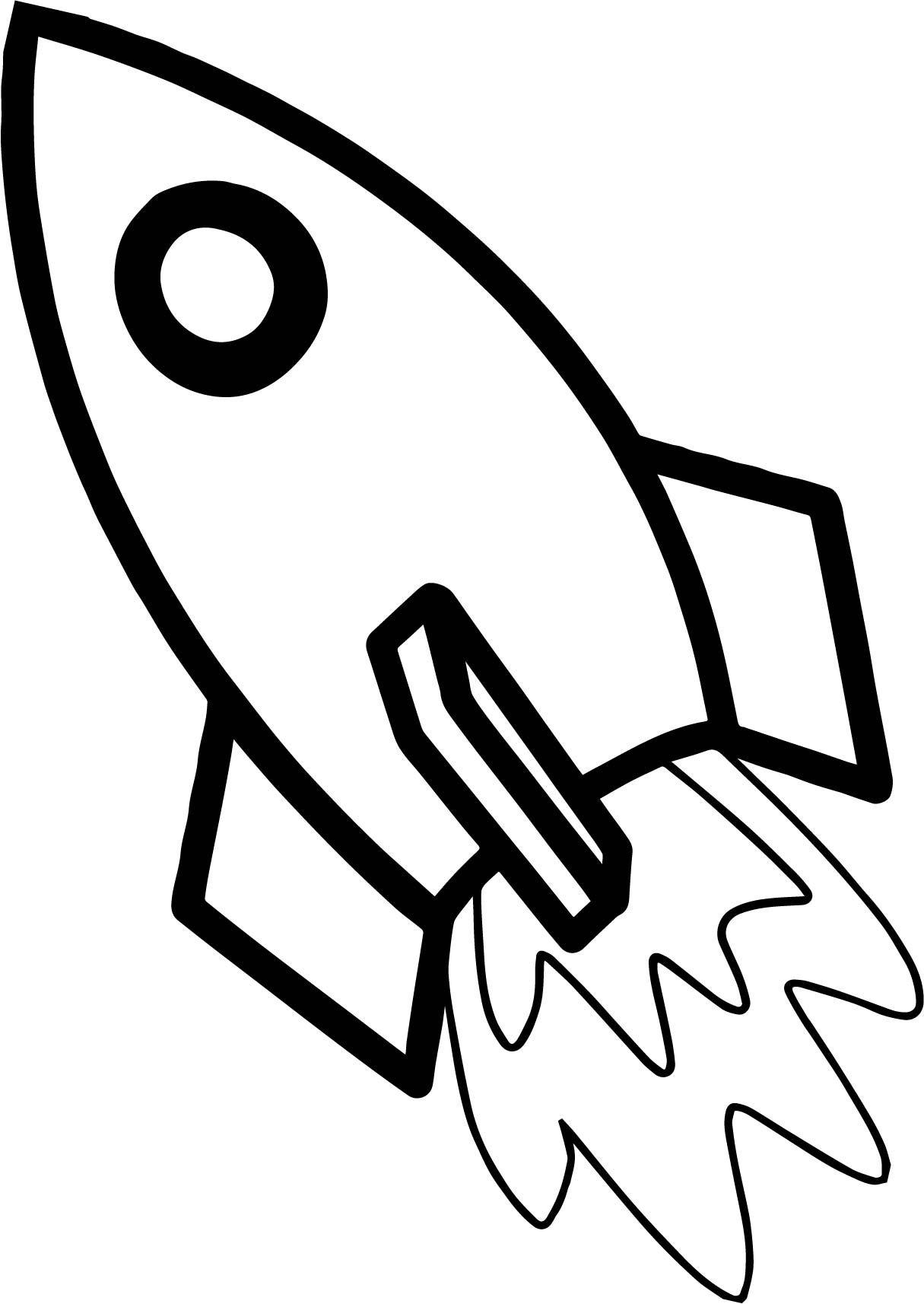 Astronaut Rocket Coloring Page