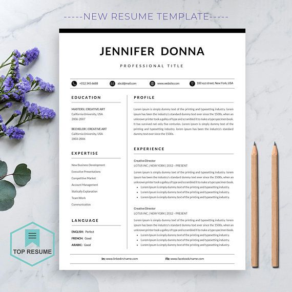 Resume Template Professional Resume Template for Word CV Resume - download word resume template