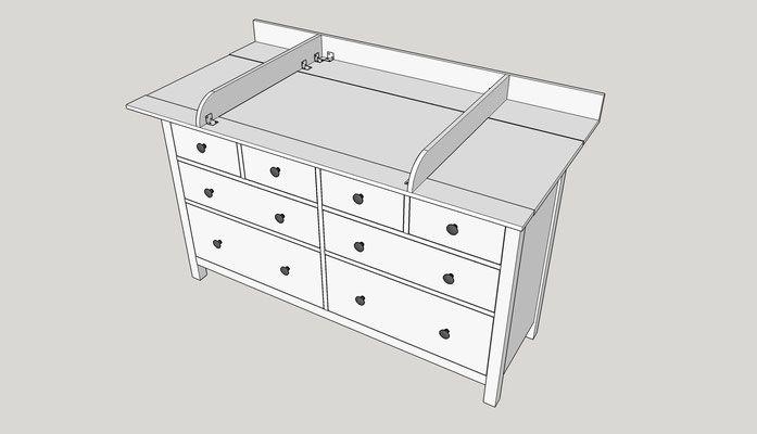 bauen sie sich einen wickelaufsatz f r ihre ikea hemnes kommode einfach selber baby. Black Bedroom Furniture Sets. Home Design Ideas