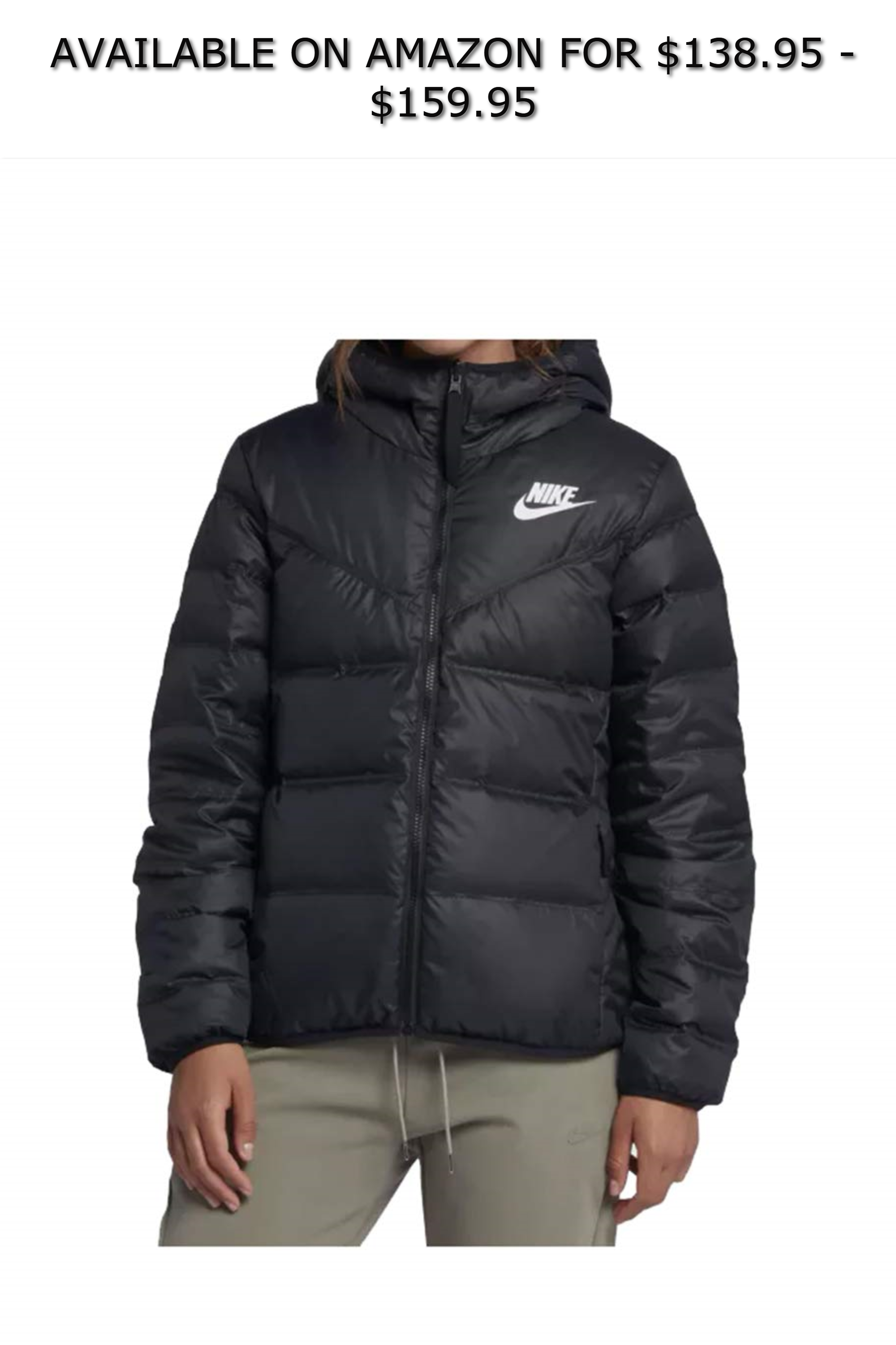 NIKE Womens Down Filled Reversible Windrunner Jacket ◇ AVAILABLE ON AMAZON  FOR   138.95 -  159.95 ◇ Made with a light weight down to keep you warm and  ... 0652c323e0bf