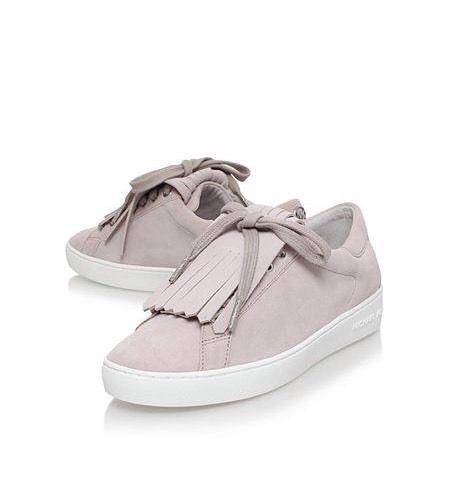 NIB MICHAEL KORS KEATON KILTIE CEMENT SUEDE SNEAKERS SHOES~ MSRP $147 ~ Size 5/6 #MichaelKors #Sneakers