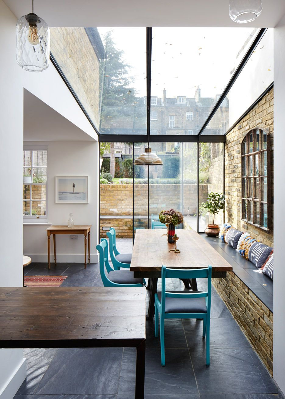 h t adds jewel like glass extension to east london house style urban living pinterest. Black Bedroom Furniture Sets. Home Design Ideas