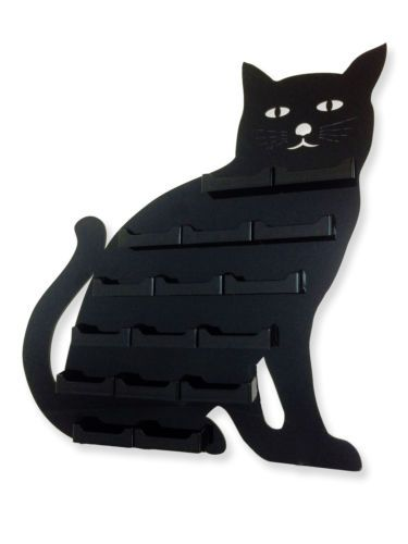 16 pocket black cat business card holder acrilyc horizontal wall 16 pocket black cat business card holder acrilyc colourmoves