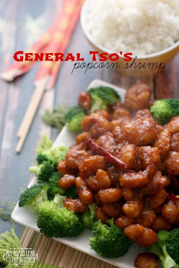General Tso S Popcorn Shrimp Recipe Popcorn Shrimp Recipes Food